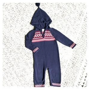 Hanna Andersson hooded sweater romper